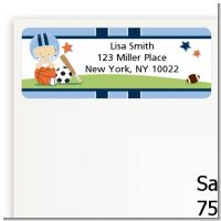 Sports Baby Caucasian - Baby Shower Return Address Labels