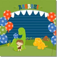 Dinosaur and Caveman Birthday Party Theme