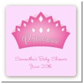 Princess Crown - Square Personalized Birthday Party Sticker Labels