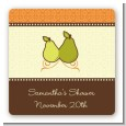 The Perfect Pair - Square Personalized Bridal Shower Sticker Labels thumbnail