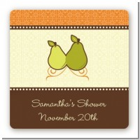 The Perfect Pair - Square Personalized Bridal Shower Sticker Labels