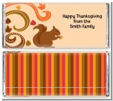 Acorn Harvest Fall Theme - Personalized Thanksgiving Candy Bar Wrappers