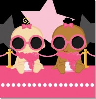 A Star is Born Pink and Black Baby Shower Theme