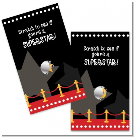 A Star Is Born Hollywood ® - Baby Shower Scratch Off Game Tickets