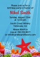 Starfish - Birthday Party Invitations thumbnail