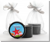 Starfish - Birthday Party Black Candle Tin Favors