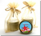 Starfish - Birthday Party Gold Tin Candle Favors