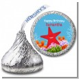 Starfish - Hershey Kiss Birthday Party Sticker Labels thumbnail