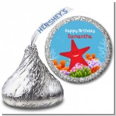 Starfish - Hershey Kiss Birthday Party Sticker Labels