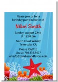 Starfish - Birthday Party Petite Invitations