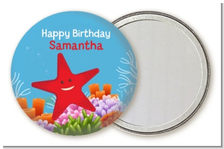 Starfish - Personalized Birthday Party Pocket Mirror Favors