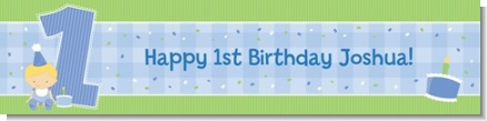 1st Birthday Boy - Personalized Birthday Party Banners
