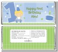 1st Birthday Boy - Personalized Birthday Party Candy Bar Wrappers thumbnail