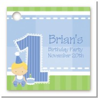 1st Birthday Boy - Personalized Birthday Party Card Stock Favor Tags