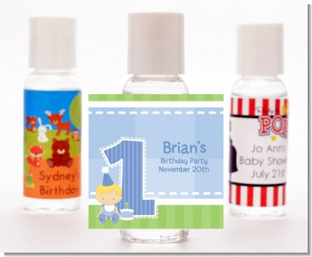 1st Birthday Boy - Personalized Birthday Party Hand Sanitizers Favors