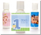 1st Birthday Boy - Personalized Birthday Party Lotion Favors