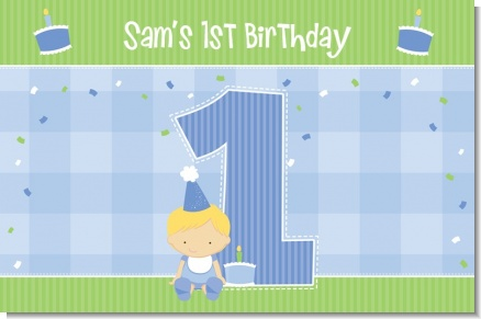 1st Birthday Boy - Personalized Birthday Party Placemats