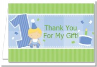 1st Birthday Boy - Birthday Party Thank You Cards