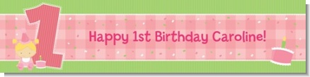 1st Birthday Girl - Personalized Birthday Party Banners