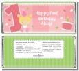 1st Birthday Girl - Personalized Birthday Party Candy Bar Wrappers thumbnail