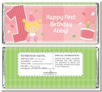 1st Birthday Girl - Personalized Birthday Party Candy Bar Wrappers