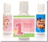 1st Birthday Girl - Personalized Birthday Party Lotion Favors
