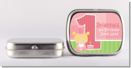 1st Birthday Girl - Personalized Birthday Party Mint Tins