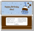 1st Birthday Topsy Turvy Blue Cake - Personalized Birthday Party Candy Bar Wrappers thumbnail