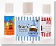 1st Birthday Topsy Turvy Blue Cake - Personalized Birthday Party Hand Sanitizers Favors thumbnail