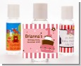 1st Birthday Topsy Turvy Pink Cake - Personalized Birthday Party Hand Sanitizers Favors thumbnail
