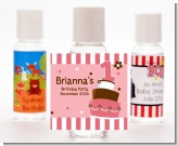 1st Birthday Topsy Turvy Pink Cake - Personalized Birthday Party Hand Sanitizers Favors