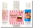 1st Birthday Topsy Turvy Pink Cake - Personalized Birthday Party Lotion Favors thumbnail