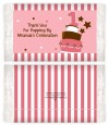 1st Birthday Topsy Turvy Pink Cake - Personalized Popcorn Wrapper Birthday Party Favors thumbnail