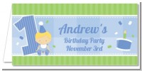 1st Birthday Boy - Personalized Birthday Party Place Cards