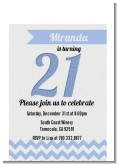 21st Birthday Chevron Pattern - Birthday Party Petite Invitations