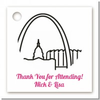 St. Louis Skyline - Personalized Bridal | Wedding Card Stock Favor Tags