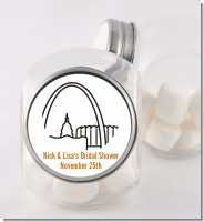 St. Louis Skyline - Personalized Bridal Shower Candy Jar