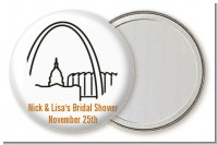 St. Louis Skyline - Personalized Bridal Shower Pocket Mirror Favors