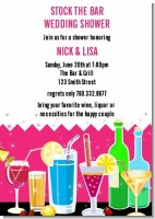 Stock the Bar Cocktails - Bachelorette Party Invitations