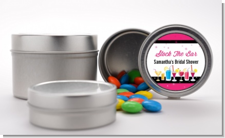Stock the Bar Cocktails - Custom Bridal Shower Favor Tins
