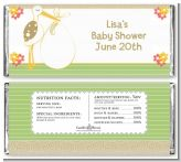 Stork Neutral - Personalized Baby Shower Candy Bar Wrappers