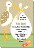 Stork Neutral - Baby Shower Invitations