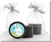 Stork It's a Boy - Baby Shower Black Candle Tin Favors