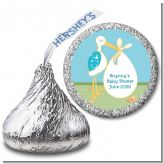 Stork It's a Boy - Hershey Kiss Baby Shower Sticker Labels