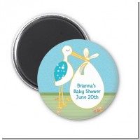 Stork It's a Boy - Personalized Baby Shower Magnet Favors