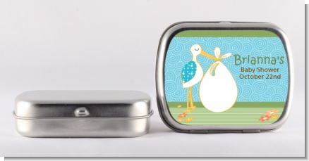Stork It's a Boy - Personalized Baby Shower Mint Tins