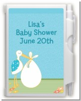Stork It's a Boy - Baby Shower Personalized Notebook Favor