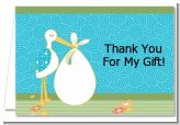 Stork It's a Boy - Baby Shower Thank You Cards