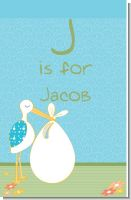 Stork It's a Boy - Personalized Baby Shower Nursery Wall Art