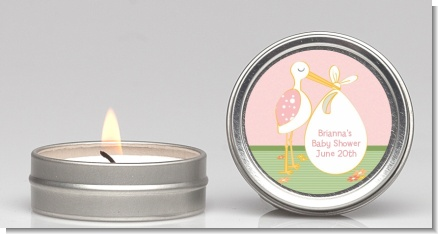 Stork It's a Girl - Baby Shower Candle Favors